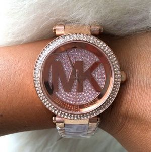 Brand New Michael Kors crystal logo lady watch